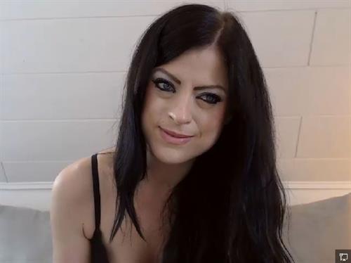 Blue eyed camgirl