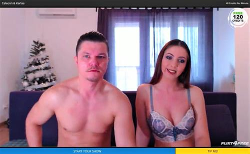 Horny couple on live webcams at Flirt4Free.com