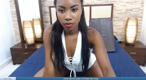Sexy young ebony chat hostess