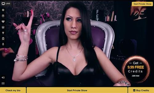 Seductive kinky fetish babe in black on MyCams.com