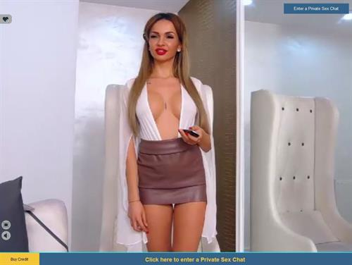 Beautiful model in a sexy dress
