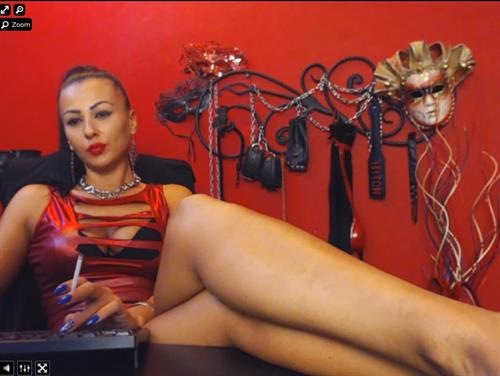 Smoking dominant cam girl