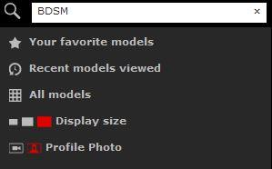 Searching specific BDSM cams on XLoveFetish.com