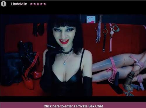 Sexy dominatrix on cam featured on FetishGalaxy.com