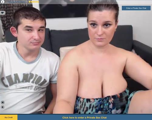 Busty girlfriend in live webcam show at Sexier.com