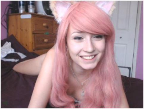Fox ears cosplaying cam girl