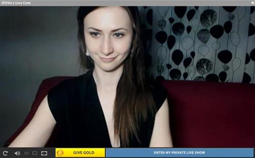 Pale brunette cam model