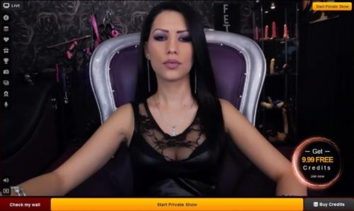 Dominatrix camgirl serves the punishment on LiveJasmin.com