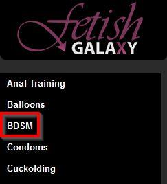 Searching for BDSM cams on FetishGalaxy.com