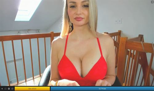 Busty blonde is a financial dominatrix on Streamate.com