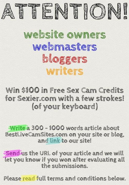 Writing Contest: Win $100 in Free Credits for Sexier.com