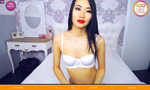 Beautiful Asian performing solo acts of masturbation in her webcam room on Cams.com