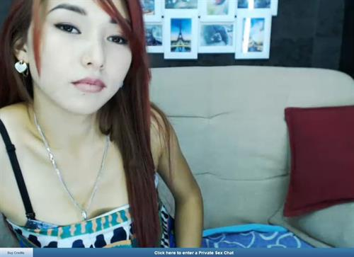 Beautiful Asian webcam model up close and personal