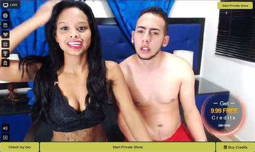 Interracial cuckolding couple sex chat on LivePrivates.com